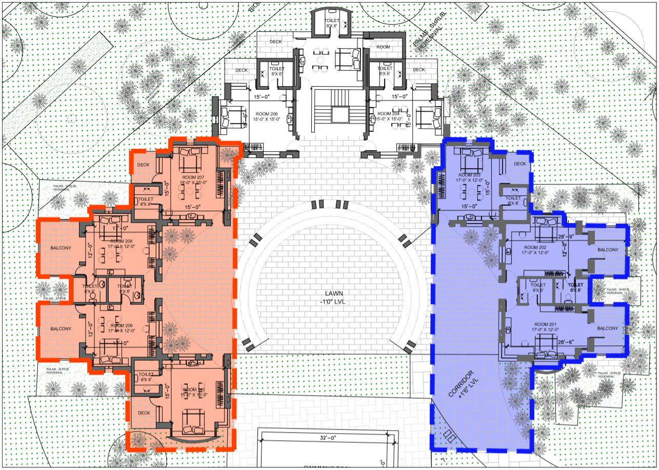 Map of room cluster for family wali feelings